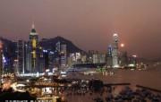东西文化交融的动感都市 香港特色旅游壁纸 香港岛北岸的瑰丽夜色 桌面壁纸 东西文化交融的动感都市香港特色旅游壁纸 人文壁纸