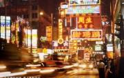 东西文化交融的动感都市 香港特色旅游壁纸 九龙弥敦道是著名的 金一哩 桌面壁纸 东西文化交融的动感都市香港特色旅游壁纸 人文壁纸