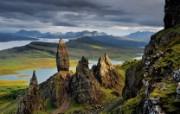 游历大千世界 basalt pinnacles 苏格兰 玄武岩尖塔图片壁纸 国家地理杂志每日一图2010三月摄影壁纸 人文壁纸