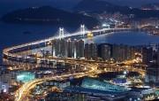 韩国旅游局官方旅游景点壁纸 韩国旅游景点 釜山广安大桥 Korea Travel Gwangan bridge Busan 韩国官方旅游景点壁纸 人文壁纸