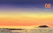 韩国旅游 济州岛挟才海水浴场 韩国映像馆韩国旅游宣传壁纸 人文壁纸