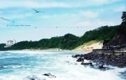 韩国风光 济州中文海水浴场 韩国映像馆韩国旅游宣传壁纸 人文壁纸