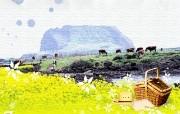 韩国风光 济州 城山日出峰 韩国映像馆韩国旅游宣传壁纸 人文壁纸