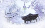 韩国风光 南山公园 韩国映像馆韩国旅游宣传壁纸 人文壁纸