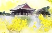 韩国风光 景福宫香远亭 韩国映像馆韩国旅游宣传壁纸 人文壁纸