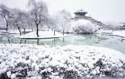 韩国雪景 京畿道水原华城 韩国映像馆韩国旅游宣传壁纸 人文壁纸