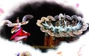 韩国旅游 扇子舞 韩国映像馆韩国旅游宣传壁纸 人文壁纸