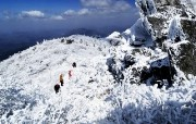 韩国雪景 庆南居昌郡德裕山 韩国映像馆韩国旅游宣传壁纸 人文壁纸