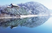 韩国雪景 庆南密阳岭南楼 韩国映像馆韩国旅游宣传壁纸 人文壁纸