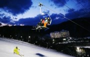 韩国江原道平昌 龙平滑雪度假村 韩国映像馆韩国旅游宣传壁纸 人文壁纸