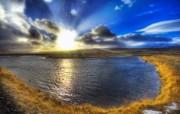 湖面的晨光 Iceland 冰岛风光壁纸 HDR 冰岛风光宽屏壁纸 人文壁纸