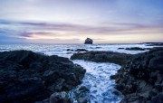 The Edge of Iceland at Sunset Iceland 冰岛风光壁纸 HDR 冰岛风光宽屏壁纸 人文壁纸