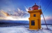 冰岛1939年的灯塔 Iceland 冰岛风光壁纸 HDR 冰岛风光宽屏壁纸 人文壁纸