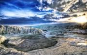 冰岛的冰雪河川 Iceland 冰岛风光壁纸 HDR 冰岛风光宽屏壁纸 人文壁纸