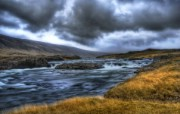 Iceland 冰岛风光壁纸 HDR Iceland Landscape Silent River and Deadly Storm HDR 冰岛风光宽屏壁纸 人文壁纸