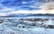 冰雪覆盖的瀑布 Iceland 冰岛风光壁纸 HDR 冰岛风光宽屏壁纸 人文壁纸
