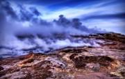 冰岛地热的浓密蒸气 Iceland 冰岛风光壁纸 HDR 冰岛风光宽屏壁纸 人文壁纸