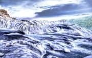 冰岛的冰川河流 Iceland 冰岛风光壁纸 HDR 冰岛风光宽屏壁纸 人文壁纸