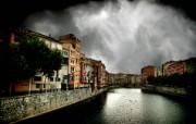 HDR 西班牙城市映像 西班牙 Girona 犹太人街区图片 HDR 西班牙城市映像 人文壁纸