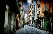HDR 西班牙城市映像 西班牙 Girona 吉罗纳小城风景 HDR 西班牙城市映像 人文壁纸