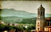HDR 西班牙城市映像 怀旧风格 西班牙Girona 吉罗纳风景 HDR 西班牙城市映像 人文壁纸