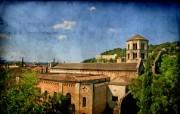 HDR 西班牙城市映像 怀旧风格 西班牙Girona 赫罗纳城市风景 HDR 西班牙城市映像 人文壁纸
