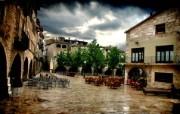 HDR 西班牙城市映像 西班牙 Banyoles HDR 西班牙城市风景 HDR 西班牙城市映像 人文壁纸