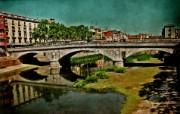 HDR 西班牙城市映像 怀旧风格 西班牙 Girona 吉罗纳小城风景 HDR 西班牙城市映像 人文壁纸