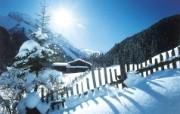 滑雪圣地 阿尔卑斯山度假壁纸 雪山小屋图片壁纸 滑雪圣地阿尔卑斯山度假壁纸 人文壁纸