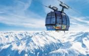 滑雪圣地 阿尔卑斯山度假壁纸 高山缆车图片壁纸 滑雪圣地阿尔卑斯山度假壁纸 人文壁纸