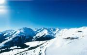 滑雪圣地 阿尔卑斯山度假壁纸 阿尔卑斯山雪景图片壁纸 滑雪圣地阿尔卑斯山度假壁纸 人文壁纸