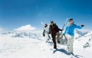 滑雪圣地 阿尔卑斯山度假壁纸 高山滑雪场图片壁纸 滑雪圣地阿尔卑斯山度假壁纸 人文壁纸