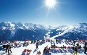 滑雪圣地 阿尔卑斯山度假壁纸 滑雪场图片壁纸 滑雪圣地阿尔卑斯山度假壁纸 人文壁纸