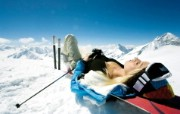 滑雪圣地 阿尔卑斯山度假壁纸 滑雪后的小憩图片壁纸 滑雪圣地阿尔卑斯山度假壁纸 人文壁纸