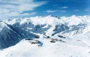 滑雪圣地 阿尔卑斯山度假壁纸 阿尔卑斯山滑雪场图片壁纸 滑雪圣地阿尔卑斯山度假壁纸 人文壁纸