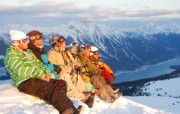 滑雪圣地 阿尔卑斯山度假壁纸 欣赏美景图片壁纸 滑雪圣地阿尔卑斯山度假壁纸 人文壁纸