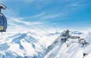 滑雪圣地 阿尔卑斯山度假壁纸 缆车起点图片壁纸 滑雪圣地阿尔卑斯山度假壁纸 人文壁纸