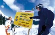 滑雪圣地 阿尔卑斯山度假壁纸 滑雪指示牌图片壁纸 滑雪圣地阿尔卑斯山度假壁纸 人文壁纸