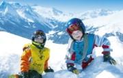 滑雪圣地 阿尔卑斯山度假壁纸 山顶玩雪图片壁纸 滑雪圣地阿尔卑斯山度假壁纸 人文壁纸