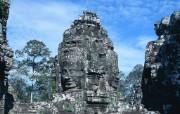 柬埔寨古朴风情 柬埔寨旅游石刻雕像 Stock Photos of Cambodia statues and sculptures 柬埔寨古朴风情 人文壁纸