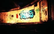 Lomography LOMO摄影 城市角落 墙上的涂鸦 Lomo 随拍 Lomo风格宽屏壁纸 LOMO随拍城市街景 人文壁纸