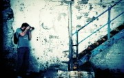 Lomography LOMO摄影 城市角落 破旧的楼梯 Lomo风格图片 Lomo 随拍壁纸 LOMO随拍城市街景 人文壁纸