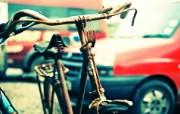 Lomography LOMO摄影 城市角落 生锈的自行车 Lomo风格图片 Lomo 随拍壁纸 LOMO随拍城市街景 人文壁纸