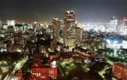 鸟瞰东京 东京夜景壁纸 日本东京夜景摄影 Japan Tokyo Views From Tokyo Tower 鸟瞰东京夜景壁纸 人文壁纸