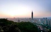 台湾101大楼壁纸 品味城市韵味旅游随拍 人文壁纸