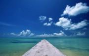 日本冲绳海岸风光一 人文壁纸