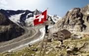 世界公园 瑞士夏季旅游名胜 Aletsch glacier 瑞士最大的冰川 阿莱奇冰川图片壁纸 世界公园瑞士夏季旅游名胜 人文壁纸