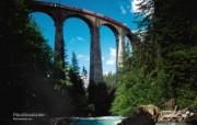 世界公园 瑞士夏季旅游名胜 Filisur Graubünden 菲利苏尔高架桥图片壁纸 世界公园瑞士夏季旅游名胜 人文壁纸