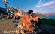 世界公园 瑞士夏季旅游名胜 Selezer Alp 高山露营图片壁纸 世界公园瑞士夏季旅游名胜 人文壁纸