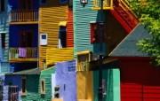 布宜诺斯艾利斯 彩色民居壁纸 文化之旅地理人文景观壁纸精选 第二辑 人文壁纸